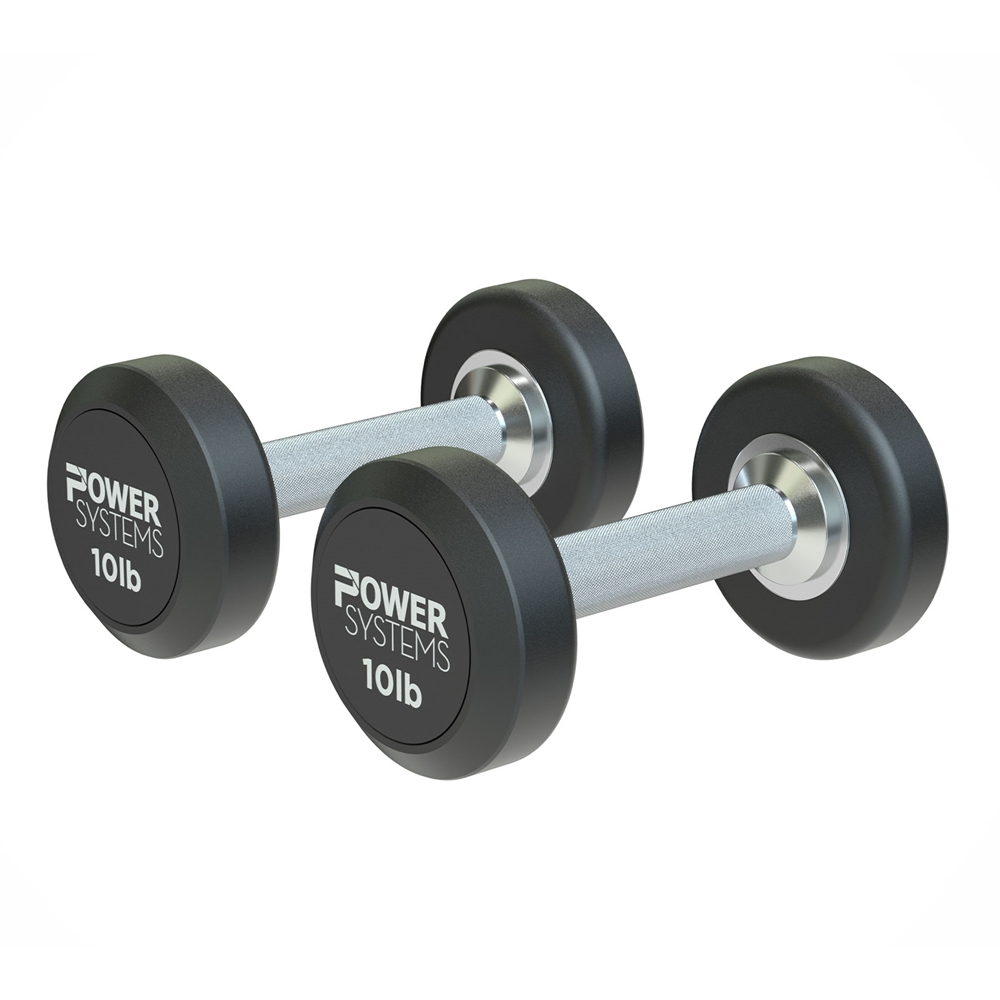 ProStyle Round Rubber Dumbbell-10 lbs Pair
