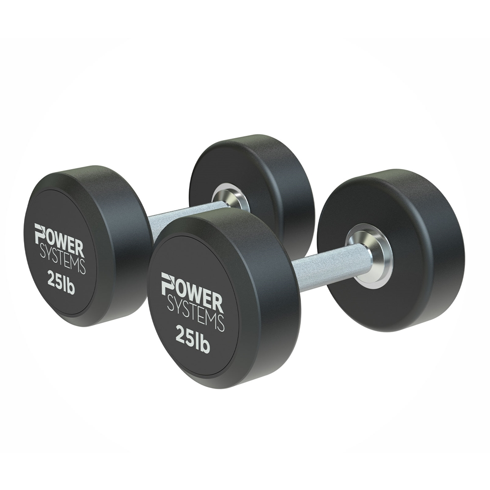 ProStyle Round Rubber Dumbbell-25 lbs Pair