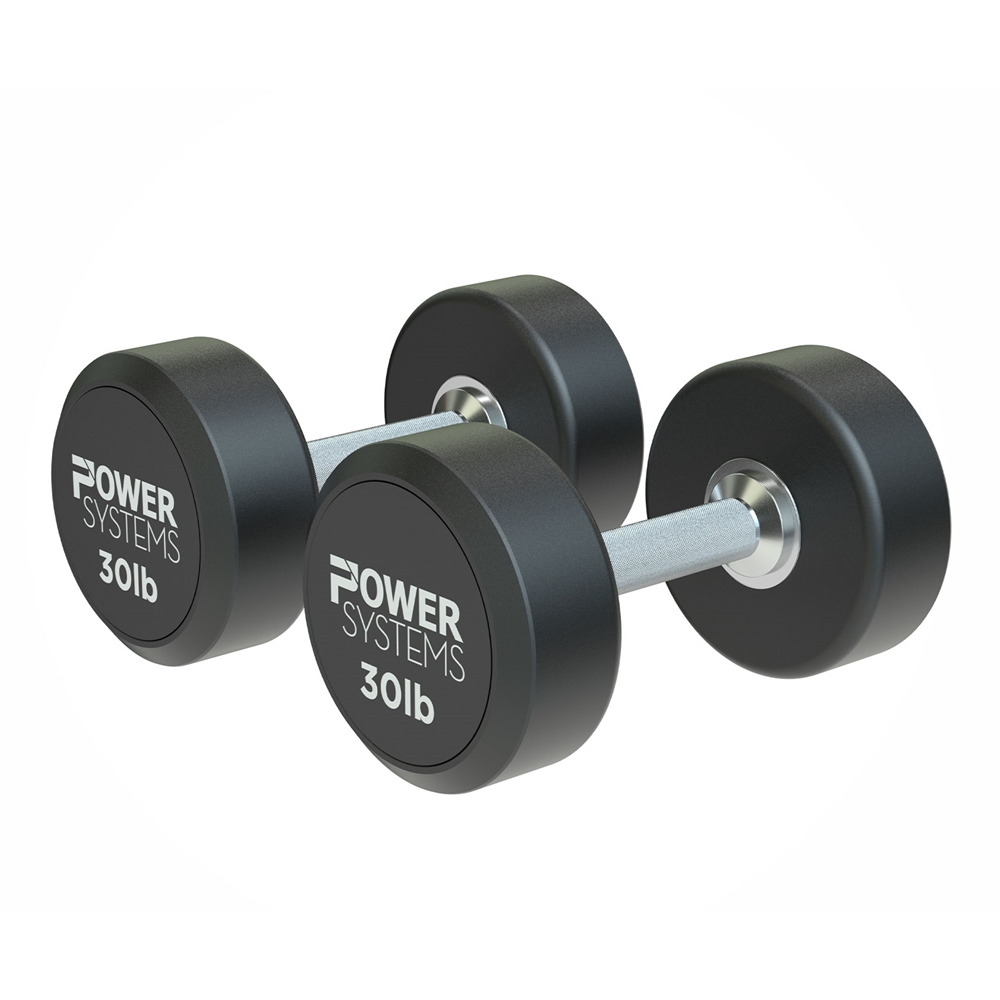 ProStyle Round Rubber Dumbbell-30 lbs Pair