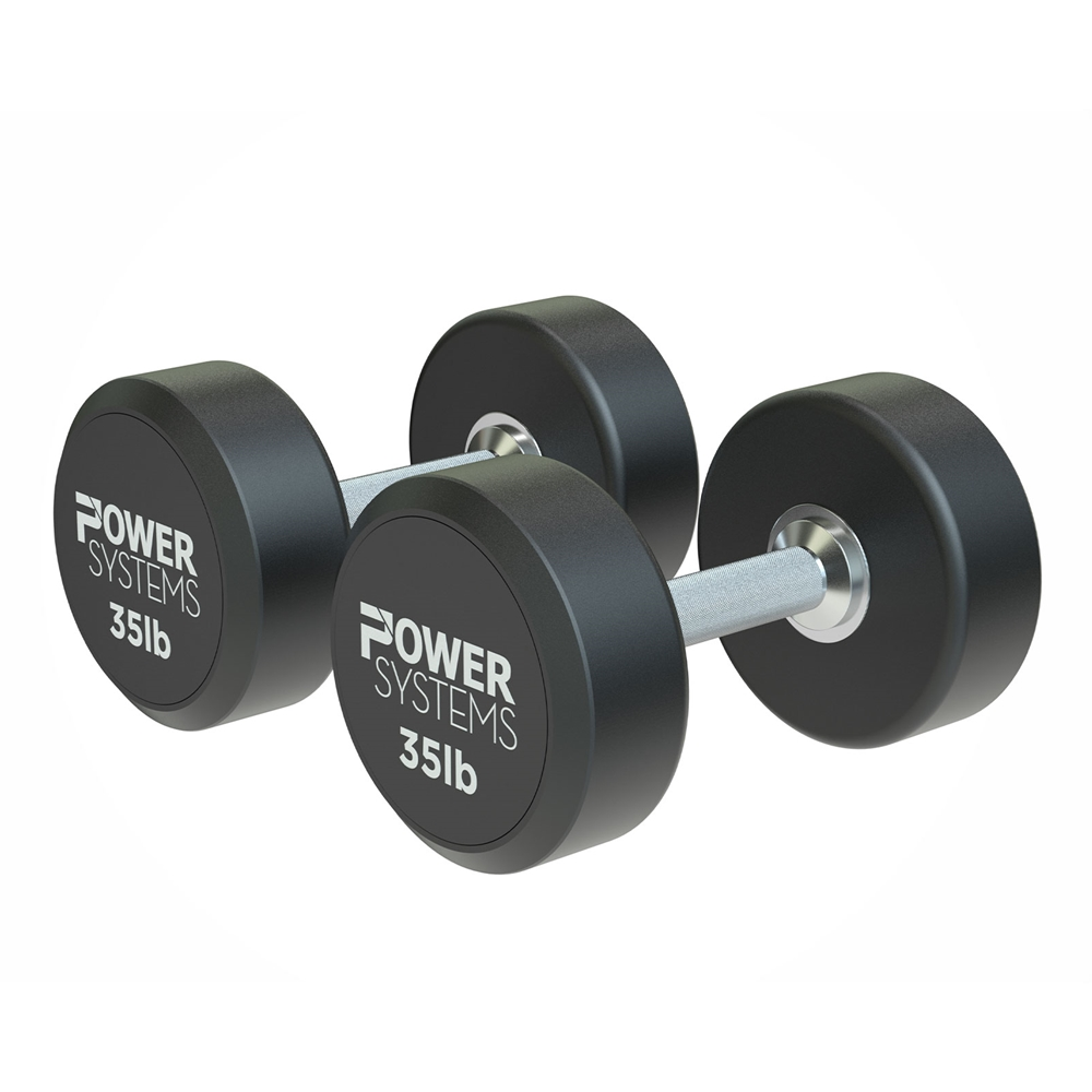 ProStyle Round Rubber Dumbbell-35 lbs Pair