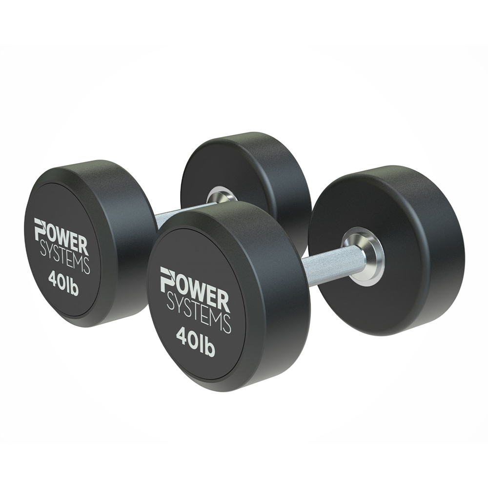 ProStyle Round Rubber Dumbbell-40 lbs Pair