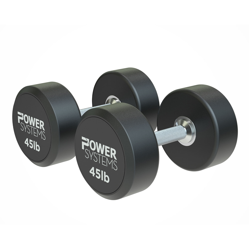 ProStyle Round Rubber Dumbbell-45 lbs Pair