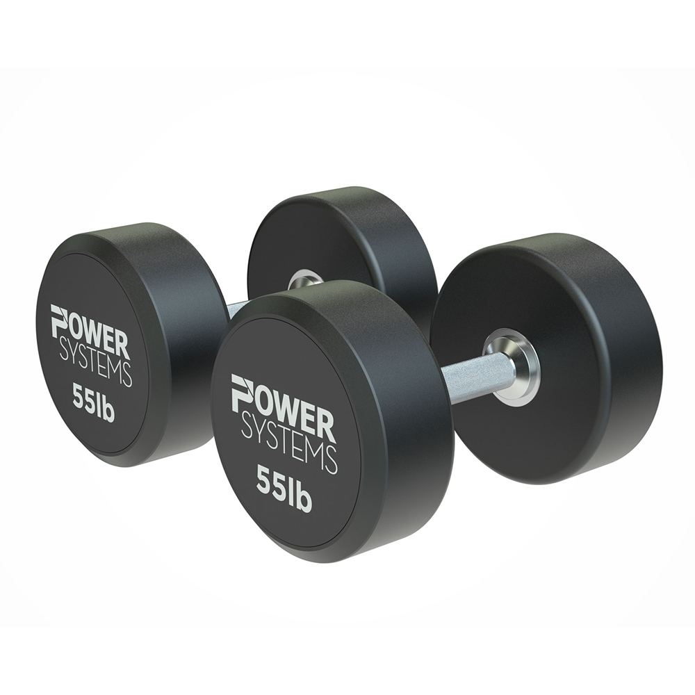 ProStyle Round Rubber Dumbbell-55 lbs Pair