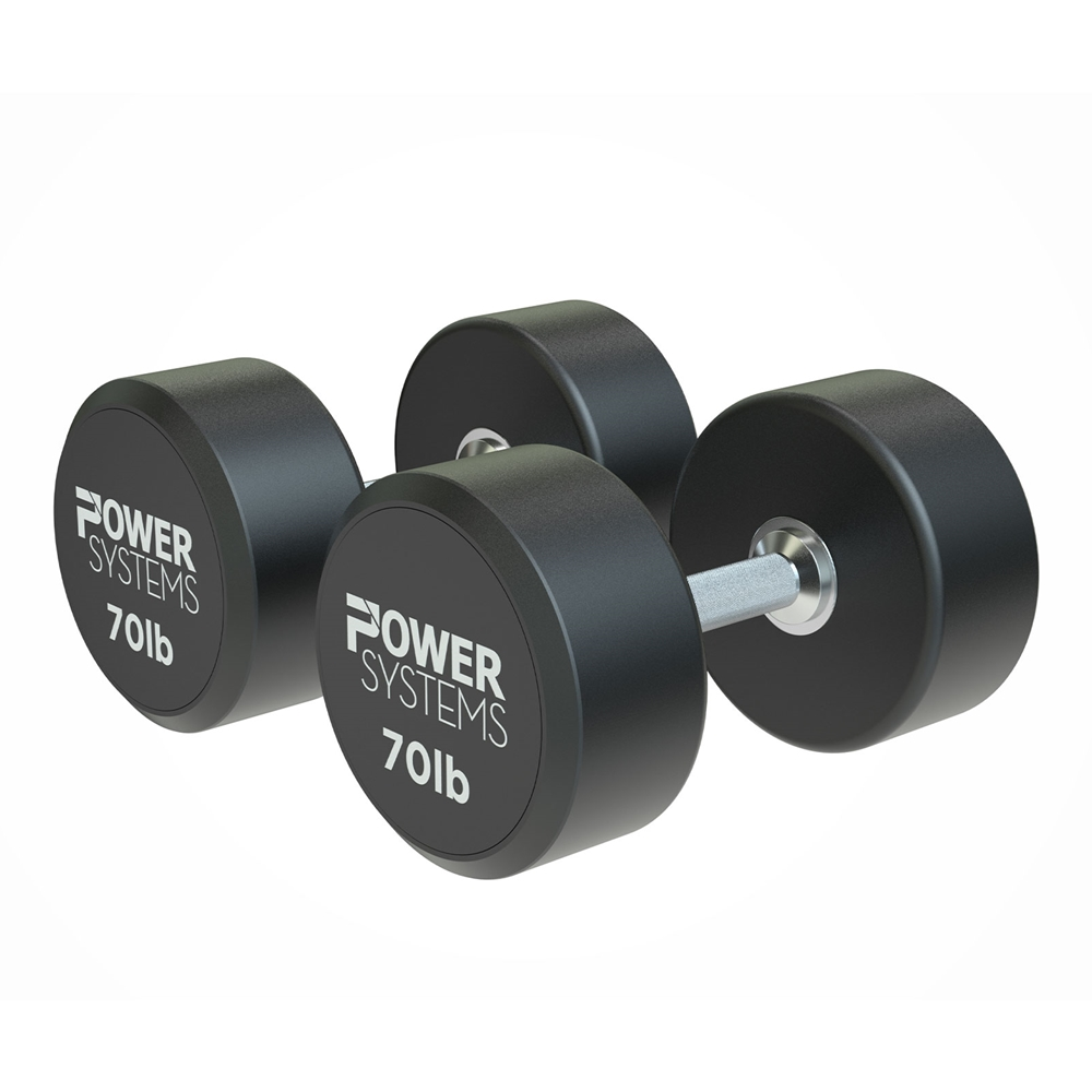ProStyle Round Rubber Dumbbell-70 lbs Pair