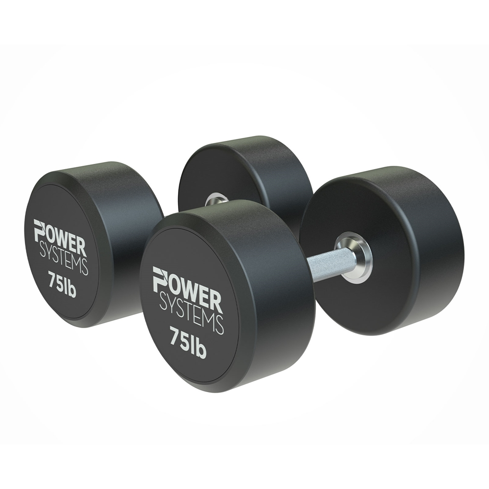 ProStyle Round Rubber Dumbbell-75 lbs Pair