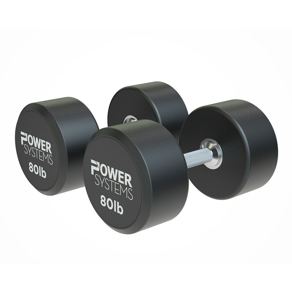 ProStyle Round Rubber Dumbbell-80 lbs Pair