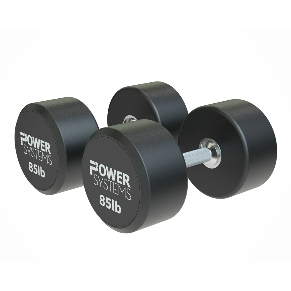 ProStyle Round Rubber Dumbbell-85 lbs Pair