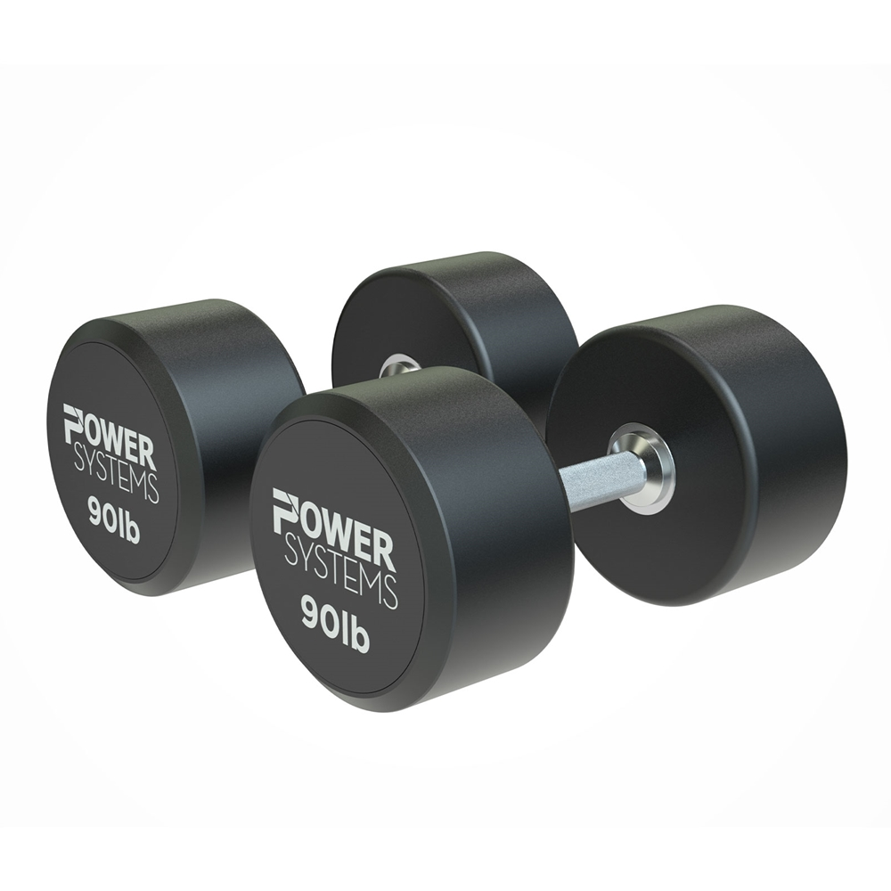 ProStyle Round Rubber Dumbbell-90 lbs Pair