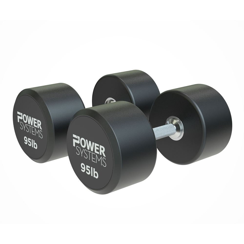 ProStyle Round Rubber Dumbbell-95 lbs Pair