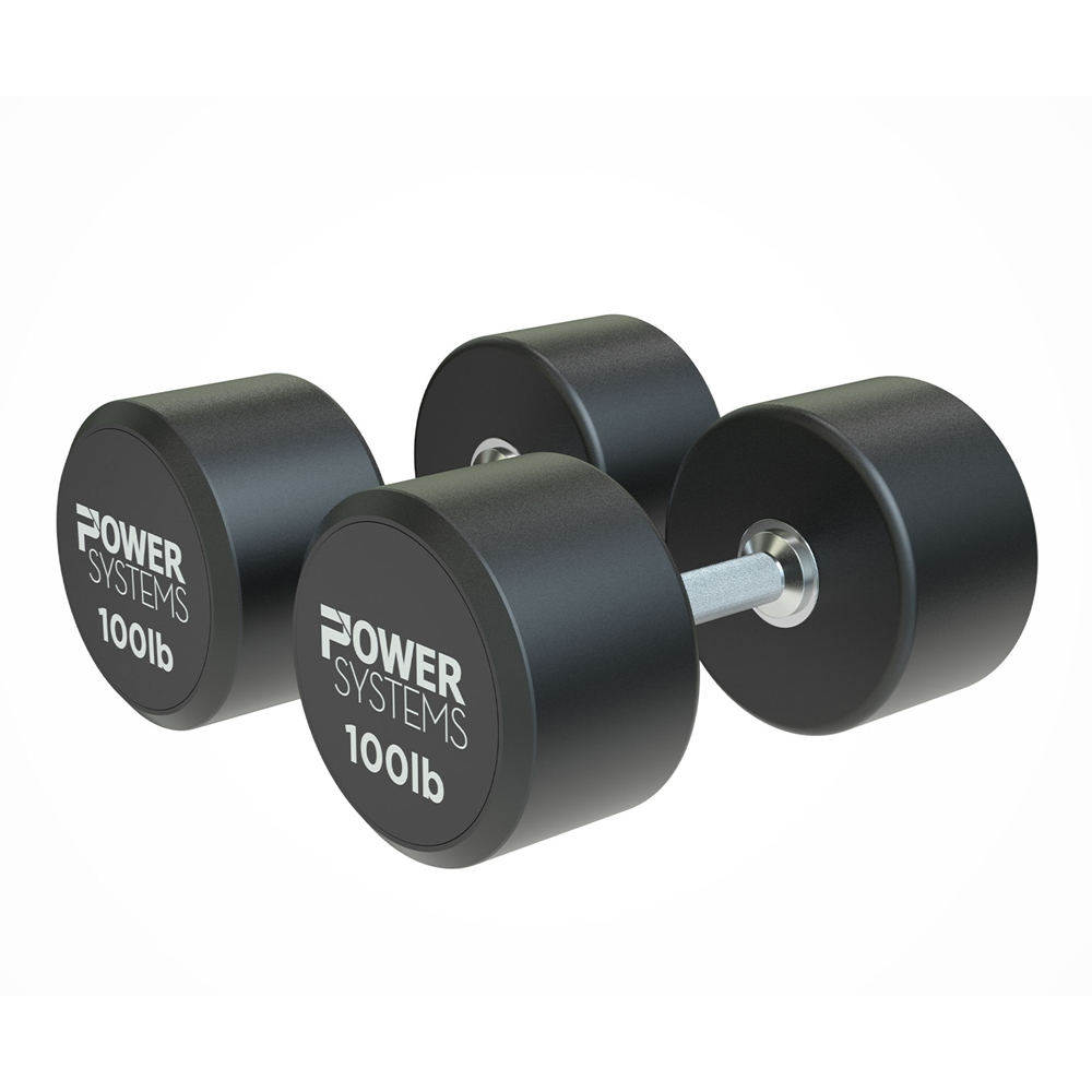 ProStyle Round Rubber Dumbbell-100 lbs Pair